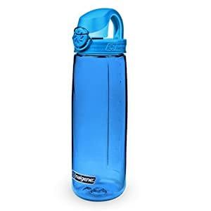 Nalgene Tritan On The Fly Water Bottle, Blue with Glacial Blue, 24Oz