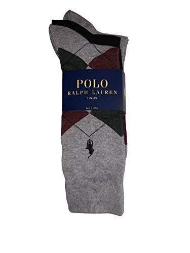 Polo Ralph Lauren Men's Set of Three Argyle Dress Socks Size 10-13 ()