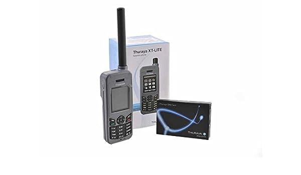 Thuraya XT Lite Teléfono satélite con Tarjeta SIM estándar/30 unidades/20 Minutos 12 Meses de validez: Amazon.es: Electrónica