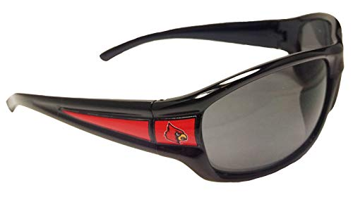 (Louisville Cardinals UL Black Red NCAA Sport Sunglasses S10JT)