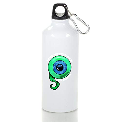 Wenlitee Jacksepticeye Like A Boos Aluminum Outdoor Sports Bottle Mountaineering Kettle White M