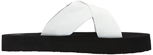 Women Sandal Roxy Sandal White Cayman Wedge 4ZcPP7qd