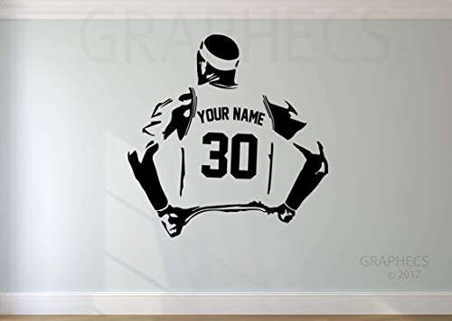 Personalized Basketball Wall Decal - Choose your NAME & NUMBERS Custom Player Vinyl Decal Sticker Decor Kids Bedroom