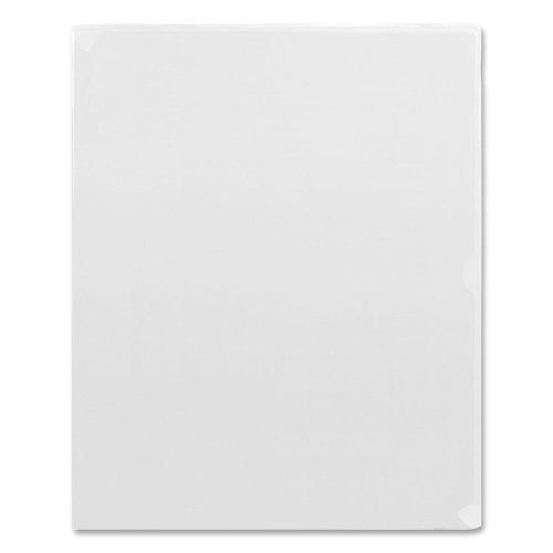 Wholesale CASE of 20 - Angler's Kleer-Kolor Vinyl File Folders-Vinyl File Folder, Letter Size, 11''x8-1/2'', 5/PK, Clear