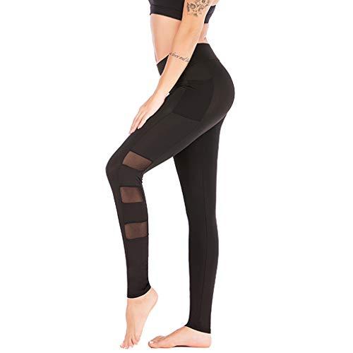 97b02aaca8ea4 AOJIAN Yoga Pants Buttery Soft Tummy Control Mesh Jogger Capri Workout  Running Sports Leggings for Women