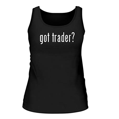 Shirt Me Up got Trader? - A Nice Women's Tank Top, Black, Large