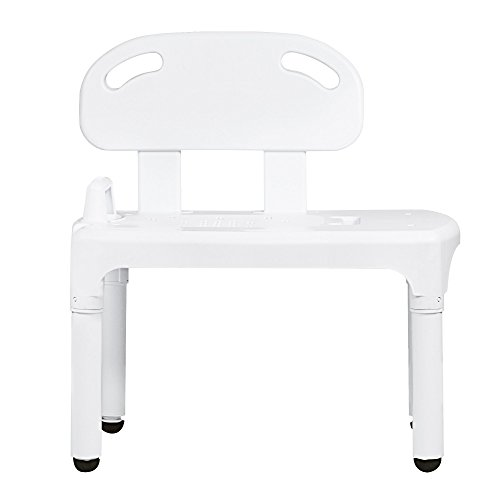 Bathtub and Shower Transfer Bench Chair with Exact Level Patented Height Adjustment by Vaunn (Image #6)
