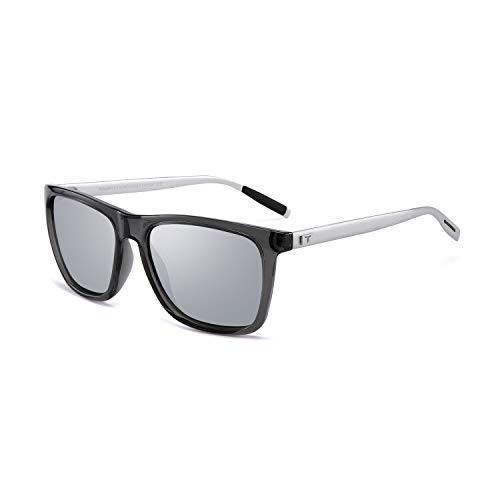 Tacloft Vintage Aluminum Sunglasses for Men/Women 57MM Polarized Sunglass TL7005 (Silver Temple/Silver Lens, 57) (Best Vintage Motorcycles To Restore)