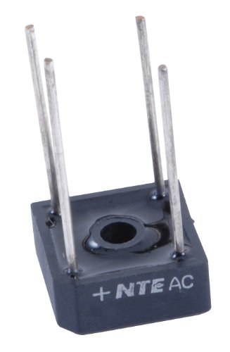 NTE Electronics NTE53004 Full Wave Single Phase Bridge Rectifier, 10 Amps, 1000V Maximum DC Blocking Voltage