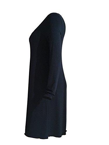 CAROLIN Damen Knielang A Linie Dunkelpetrol Kleid RICK Rundhals aBaqvR