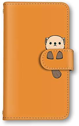 [スマ通] iPhone 6s スマホケース 手帳型 本革 G7.オレンジ×ラッコ Apple アップル アイフォン シックスエス docomo au SoftBank SIMフリー