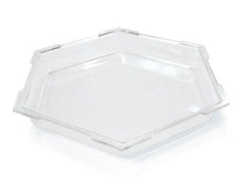 Hexagon Buffet - Rosseto SA102 Acrylic Hexagon Ice Bath Cooler, Large, Clear