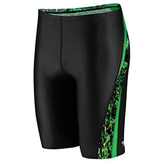 Speedo Big Boys' Youth Splatter Splash Jammer Swimsuit, Green, 22/6 (Jammer Splatter)