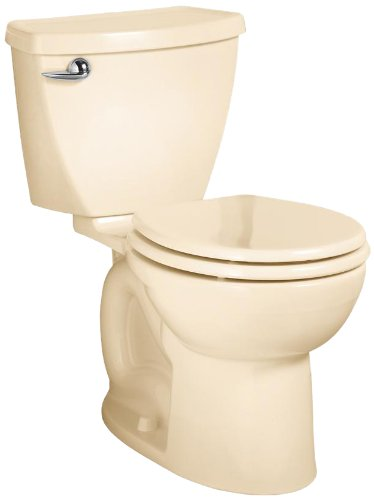 American Standard Cadet 3 Round Front Flowise Two-Piece High Efficiency Toilet with 12-Inch Rough-In, Bone Bone by American Standard