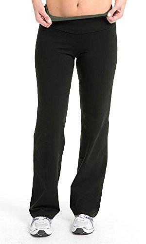 Control Bootcut Legging - The Girls Tummy Control Plus Size Women's Bootcut Pant (2X, Black)