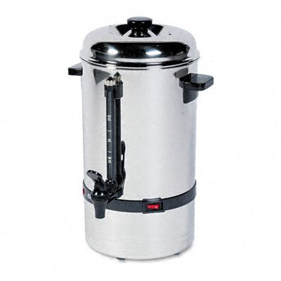 Classic Coffee Concepts 50-Cup Stainless Steel Commercial Percolator Urn