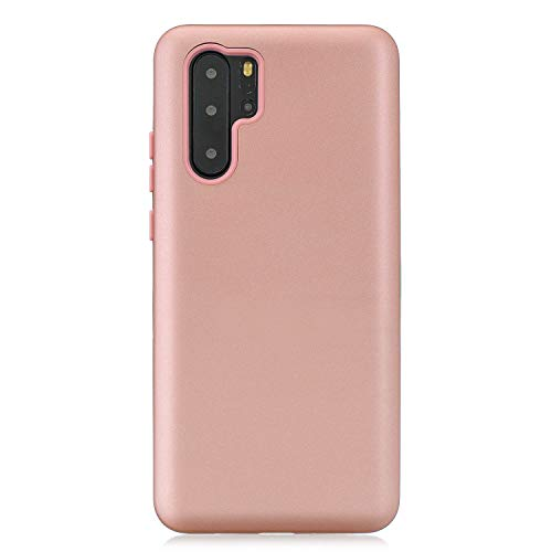 Price comparison product image Cfrau 3 in 1 Case with Black Stylus Compatible with Huawei P30 Pro, Stylish Ultra Thin Scratchproof Absorption Heavy Duty Soft Silicone + PC Back Cover Case, Rose Gold