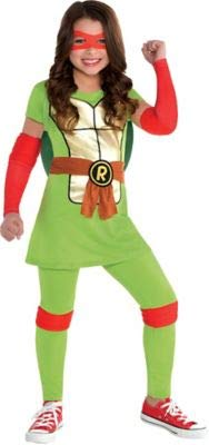 Amscan Teenage Mutant Ninja Turtles Raphael Halloween Costume for Girls, Small, with Included Accessories