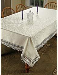 HomeCrate Flower Bow Vintage Lace Design tablecloths, 70