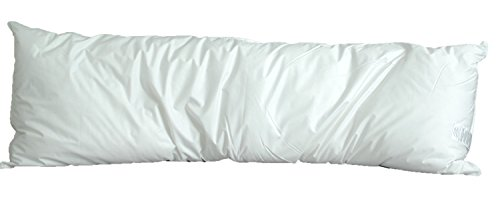 "White Goose Feather and Down Body Pillow - 20"" x 72"""