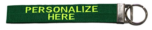 Fabric Name Tapes (Custom Name Tape material LUGGAGE and CRATE Tags OVER 50 Fabrics! Made in the USA , Kelly Green, 6