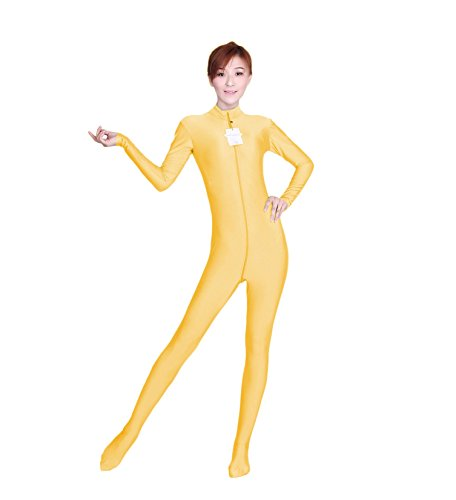 Girl Acrobat Costume (WOLF UNITARD Long Sleeve Bodysuit for Adult and Child Large Apricot)