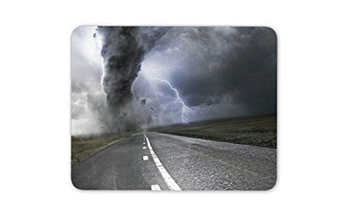 Awesome Tornado Mouse Pad - Extreme Weather Lightening Mousepad Mouse Mat Gift Computer ()