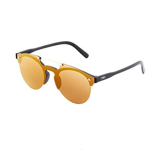 degradadas espejo hombre Bronce sol Negro HOKUSAI de TWIG Gafas mujer 67T1q1