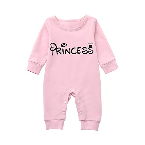 Littay Newborn Infant Baby Girl Letter Princess Romper Jumpsuit Outfits -