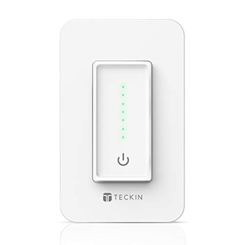 Smart Dimmer Wi-Fi Light Switch TECKIN Smart Wall switch,Voice Control,Remote Control,Work with Alexa,Google home and IFTTT,Schedule and Timer,Easy Installation,No Hub Required