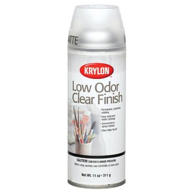 Krylon Clear Finish Spray, Matte, 11 Ounces (Krylon Clear Acrylic)