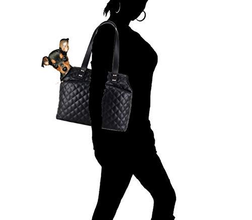 Borsa donna Liu-jo tote per cane mod. soap opera a spalla in ecopelle trapuntato nero BS20LJ33