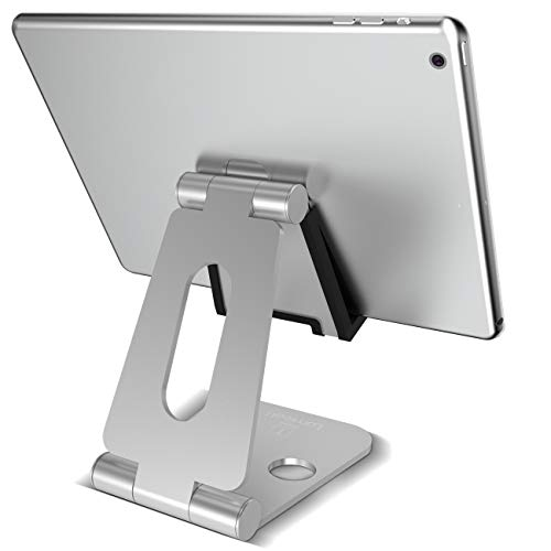 Nexus Pedestal 12 - Tablet Stand Adjustable, Lamicall Tablet Holder Dock for Desk Kitchen, Compatible with iPad Pro 9.7, 10.5, Mini Air, Samsung Tab, Kindle Fire, E-Reader, Foldable Portable Nintendo Switch Playstand