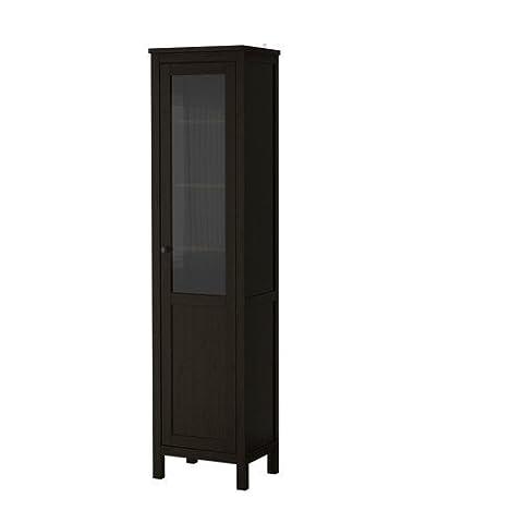 Ikea HEMNES Cabinet with panel/glass door, black-brown 2026.8235.630