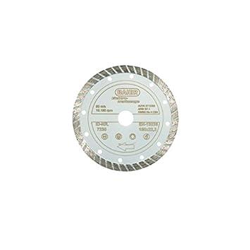 Baier máquinas negro disco de diamante de corte Turbo D 7232=230mm/disco 4046382072323