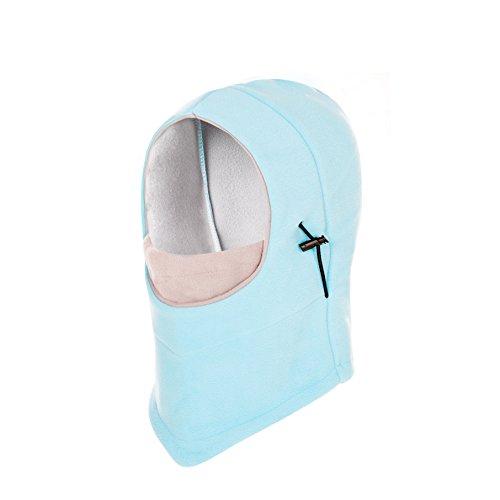 YR.Lover Lightweight Balaclava Windproof Ski Face Mask for Men, Women Soft Warm Fleece Ear-Flap Winter Hat/Hood for Outdoor Sports
