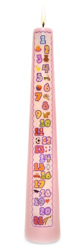 Celebration Candles 1-21 Year Contemporary Countdown Birthday Candle, (Baptism Celebration)