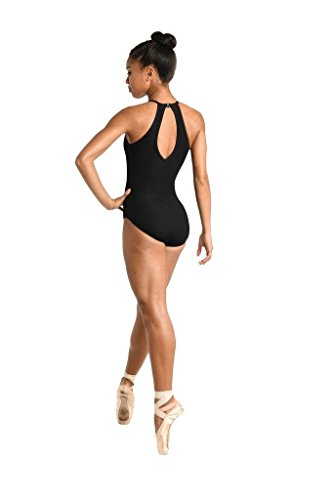 Leotard Halter Dance (DanzNmotion by Danshuz Women's Cutaway Halter Leotard (Black, SMALL) - 2465a)