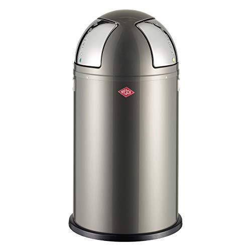 Wesco 175 861-13 - Cubo de la basura con 2 agujeros, 50 l, color gris