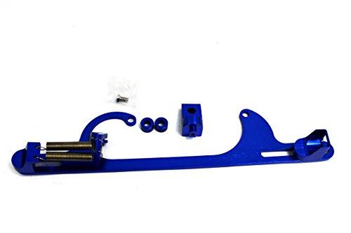 (Blue Holley 4150 4160 Aluminum Throttle Cable Carb Bracket Carburetor 350)