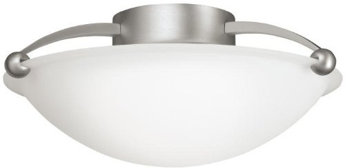 (Kichler 8405NI Semi-Flush 2-Light, Brushed Nickel)