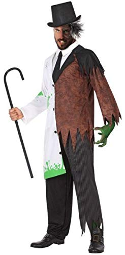 Horror Film Halloween Costumes (Mens Mad Scientist Jekyll & Hyde Halloween Horror Film Fancy Dress Costume Outfit M-XL)