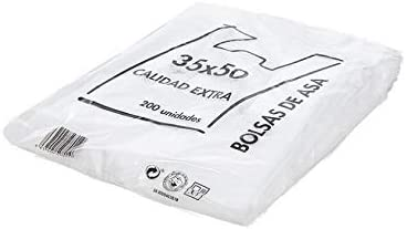 Natural Apiary Envio 24H Bolsas de Plastico Asa Camiseta Blanco Disponible Varios TAMAÑOS - Fabricadas en España Eco-Friendly (35 x 50 cm. (200 Unidades)