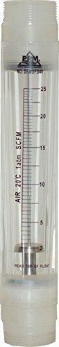 PRM 2-25 SCFM Rotameter Air Flow Meter, 1-1/2