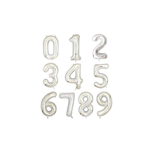 - Boom-moon 1pc 40 inch Rose Gold Silver Aluminium Foil Number Balloons 0-9 Birthday Wedding Engagement Party Decor Globo Kids Ball Supplies,Silver,Number 8,40inch