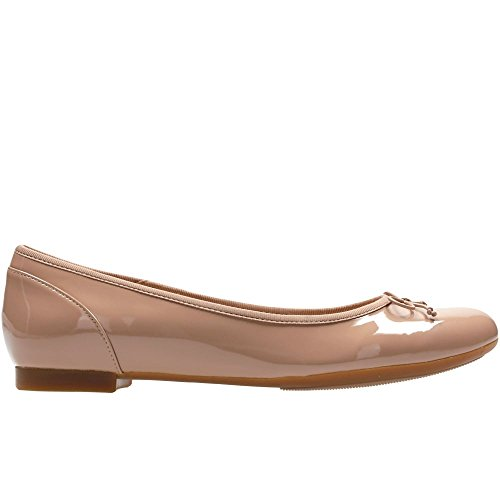 Chaussures Nude Patent Clarks Ballerine Grande Couture Fleur Womens 1xvqBXv4