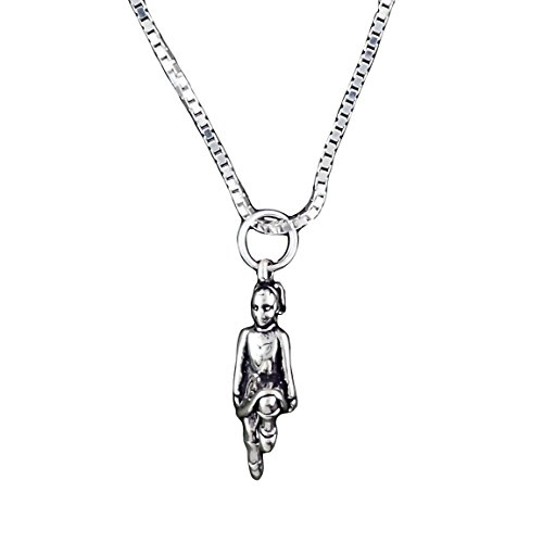 Music Box Dancer Costume - Corinna-Maria Sterling Silver Celtic Irish Step Dancer Necklace 18 inch