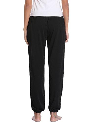 Pantaloni Donna Estivo Sportivi Nero Pigiama Yoga Casual con Jogging Trousers Sykooria Donna Pantalone per Coulisse EqdEFX