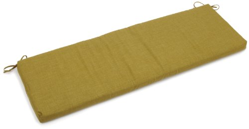 Blazing Needles Indoor/Outdoor Spun Poly 19-Inch by 60-Inch by 3-1/2-Inch 3-Seater Bench Cushion, (2 Seater Bench Cushion)