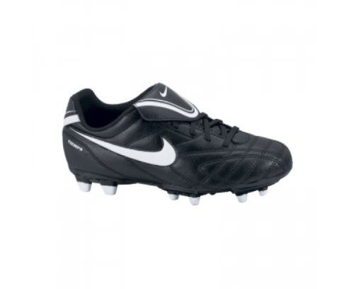 Nike JR TIEMPO NATURAL III FG Kinder Fußballschuh, black/white-volt